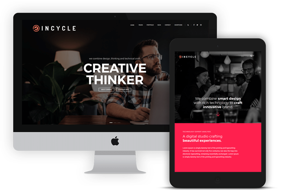 Website development examples from INCYCLE