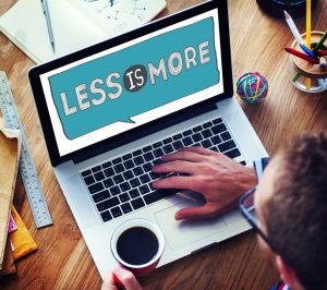 Less is more in good website design