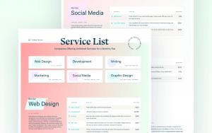 Digital marketing service lists